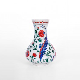 ARTIST Meliha Coşkun Vase with saz leaves and flowers ;23;15