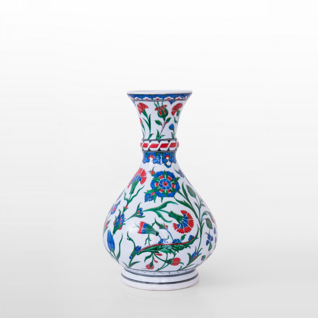 Vase with saz leaves and flowers ;32;24 - FLORAL