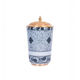 FLORAL Vase with spiral tughrakesh pattern ;34;19;;;
