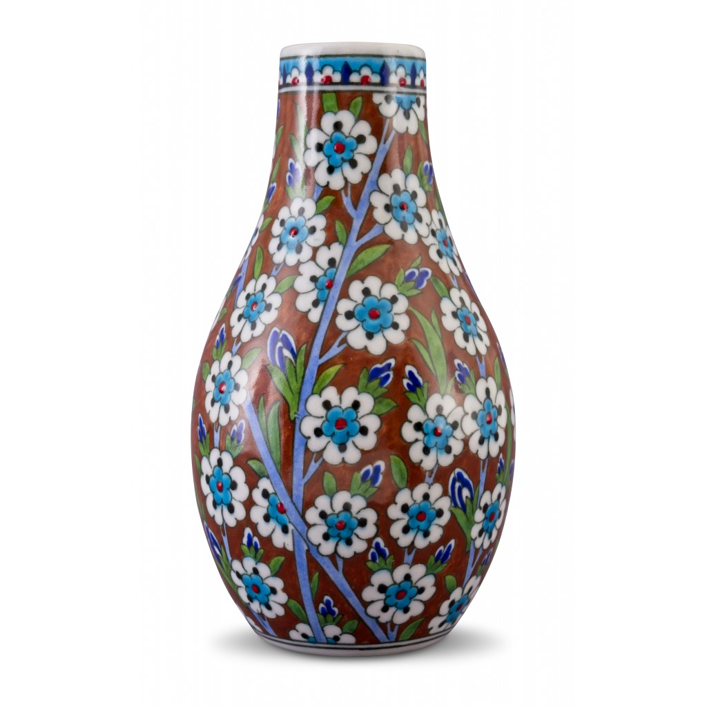 Vase with spring blossom pattern ;22;10;;; - FLORAL