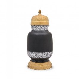 BLACK & WHITE Vase with tughrakesh pattern ;;;;;