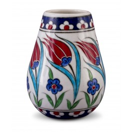 FLORAL Vase with tulip pattern ;14;10;;;
