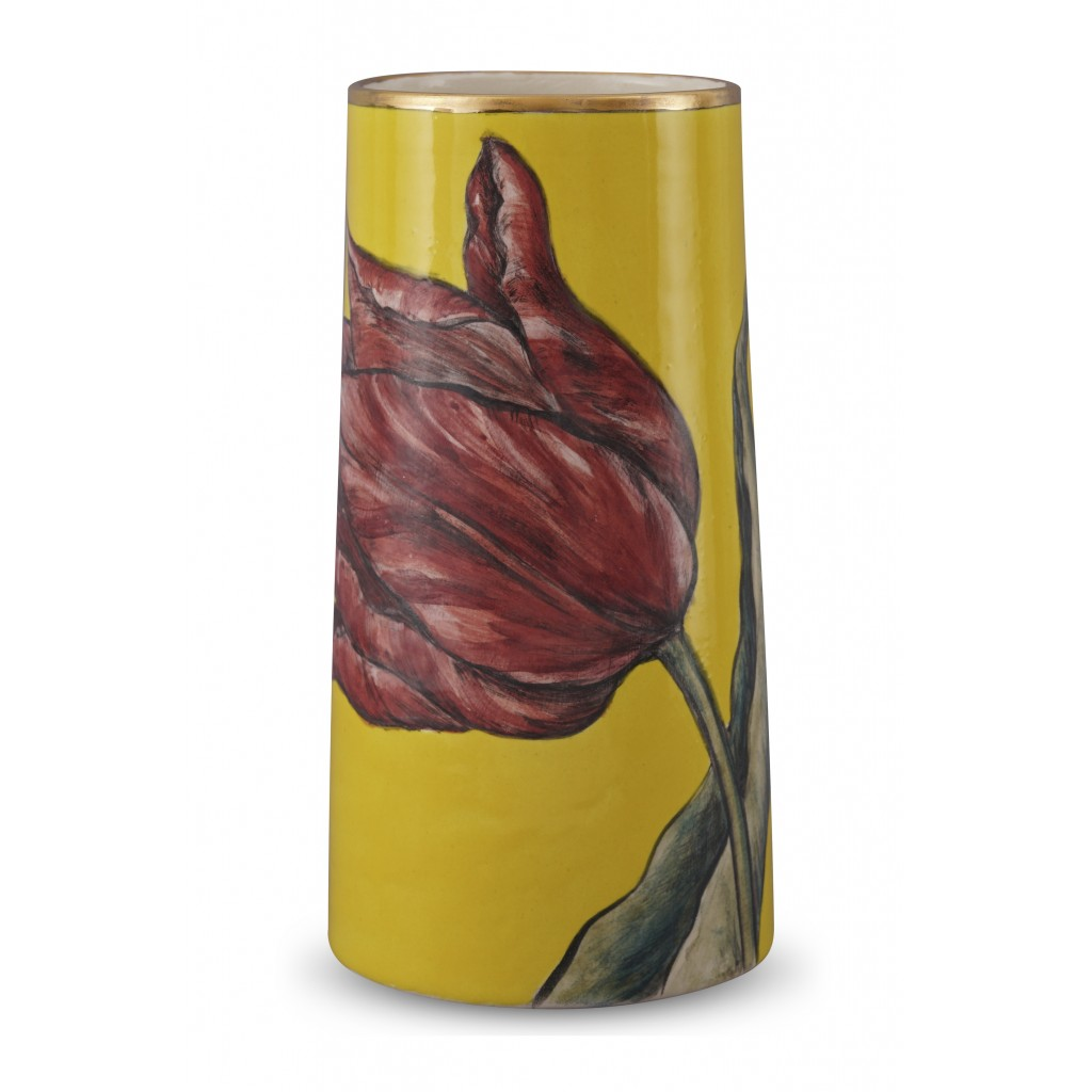 Vase with tulip pattern ;23;12;;; - VASE