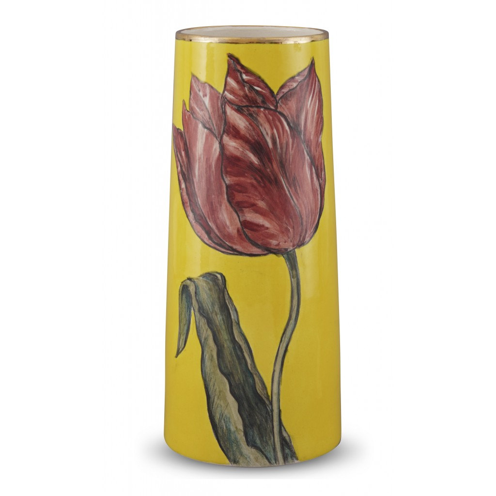 Vase with tulip pattern ;30;13;;; - FLORAL