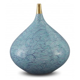 CONTEMPORARY Vase with waves pattern ;26;23;;;