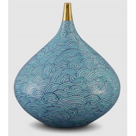 GEOMETRIC Vase with waves pattern ;26;23;;;