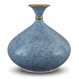 CONTEMPORARY Vase with waves pattern ;34;31;;;