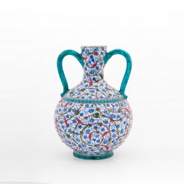 FLORAL Water bottle with contemporary tugrakesh pattern ;35;22