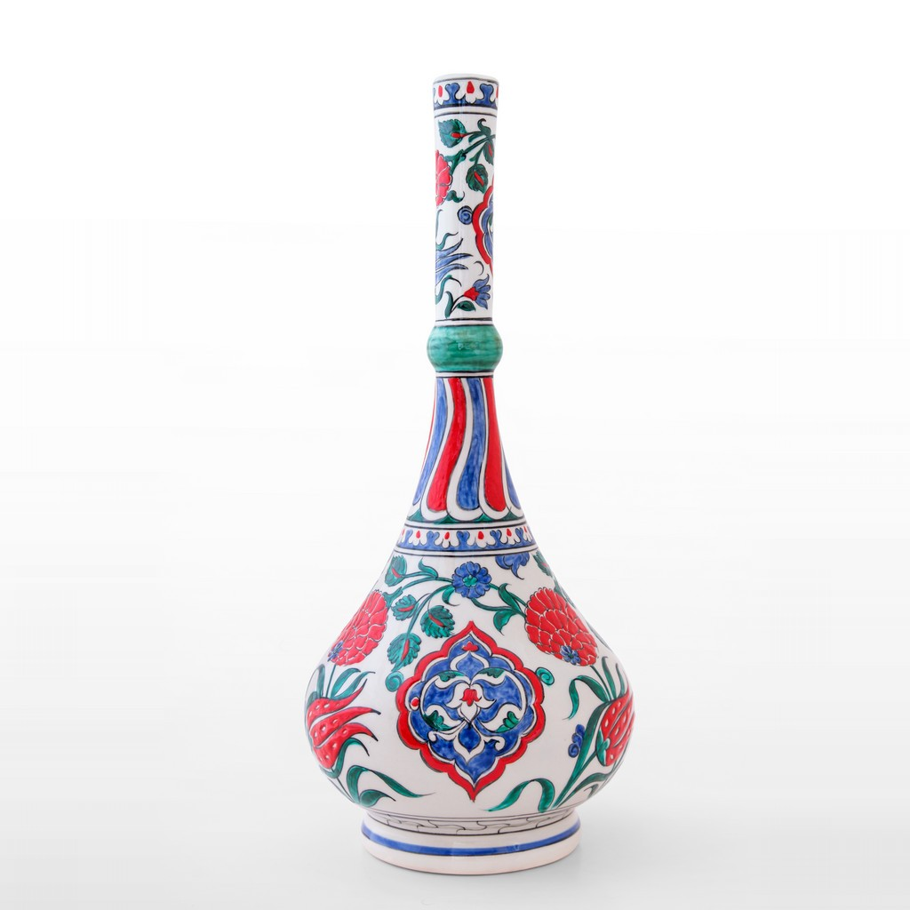 Waterbottle with floral and rumi pattern ;43;20 - ARTIST Meliha Coşkun