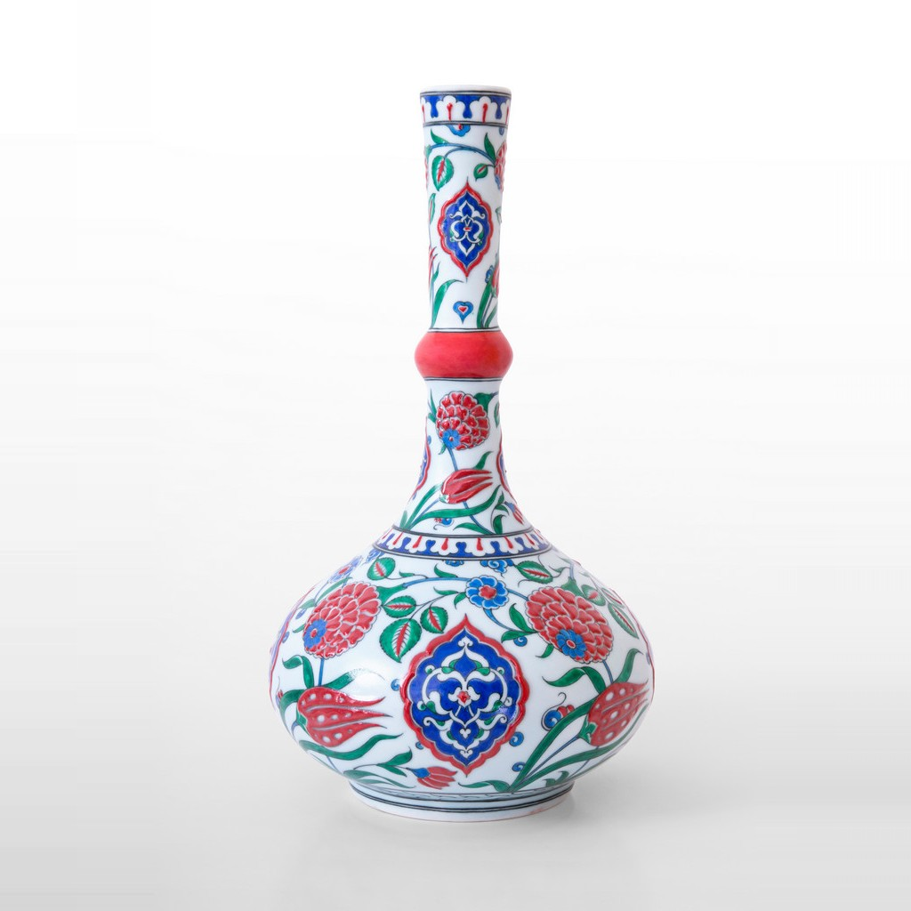 Waterbottle with floral and rumi pattern ;43;26 - VASE