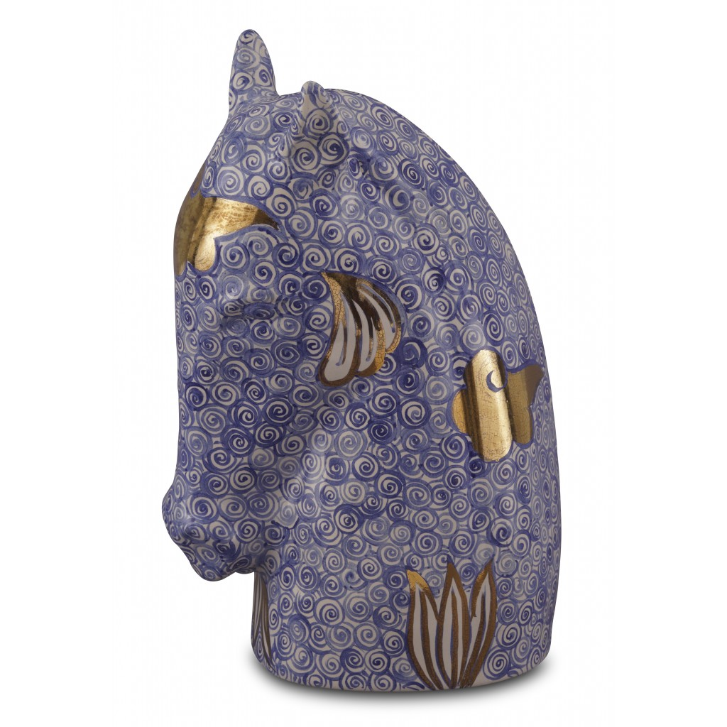Horse Head Figurine With Geometrical Pattern Collections Figure Figurine