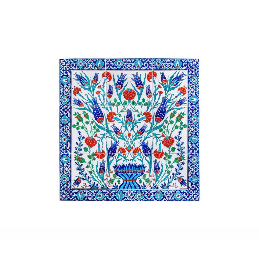 Panel with tulip and carnation flowers - Products - TILE & PANELS