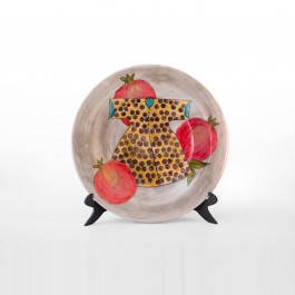 Plate with pomegranates and kaftan in contemporary style ;;40